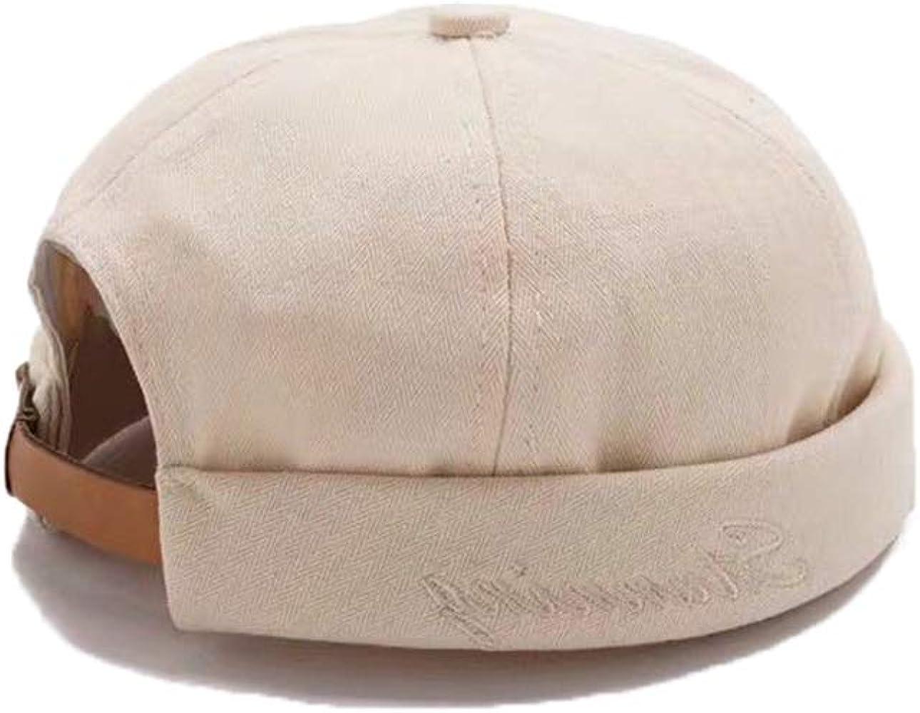 efc29cd1 Unisex Docker Brimless Hats Skullcap Beanie Worker Sailor Cap Retro Rolled  Cuff Skull Caps with Adjustable