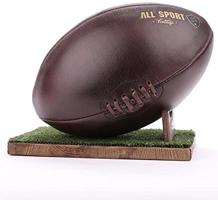 All Sport Vintage – Balón de rugby, color Chocolate, soporte verde ...
