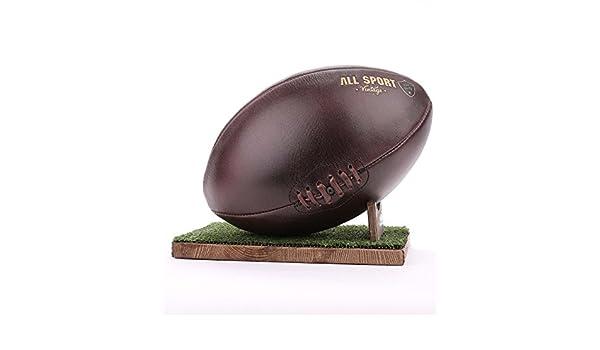All Sport Vintage – Balón de rugby, color Chocolate, soporte verde ...