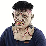 Zombie Mask Adult Latex Mask Halloween Novelty Full Over The Head Latex mask Costume Party Scary Horror mask Bloody Brain Headpiece
