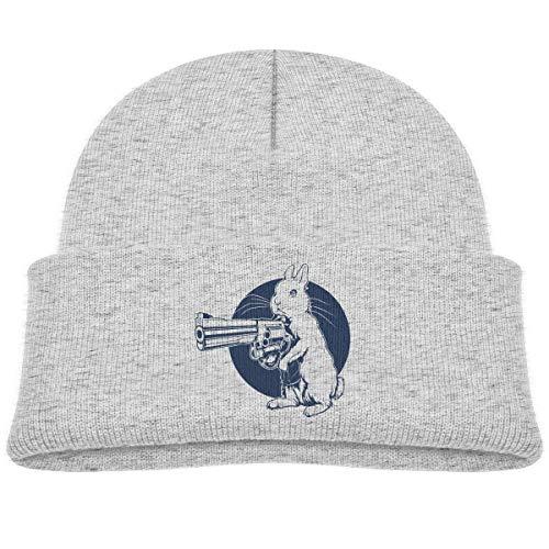 (JENNIFERHARRISON Hare Trigger Cotton Fleece Baby Teeny Winter Warm Hat,Satire Beanie Knit Cap for Girls and Boys)
