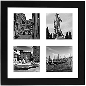Amazon.com - ArtToFrames Collage Photo Frame Single Mat with 4 - 4x4 ...