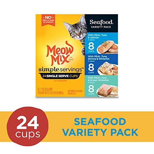 Meow Mix Simple Servings Wet Cat Food, 1.3 Ounce Cups 2