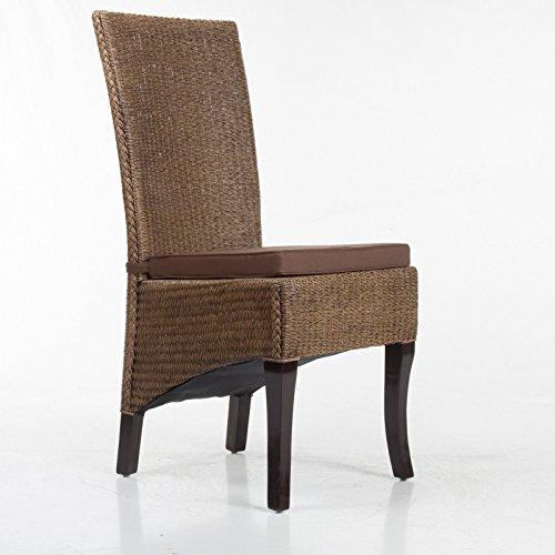 Stuhlkissen-Sitzpolster-Sitzkissen-Stuhlauflage-Dekokissen-braun-5cm-dick