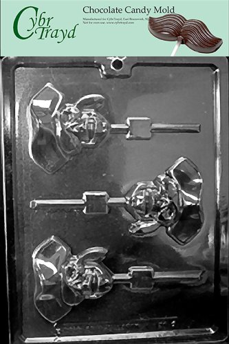Cybrtrayd K126 Pirate Skull Lolly Chocolate Candy Mold with Exclusive Copyrighted Molding Instructions