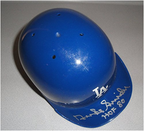 Duke Snider Hand Signed Auto Mini Helmet Los Angeles Dodgers HOF 80 W/ COA