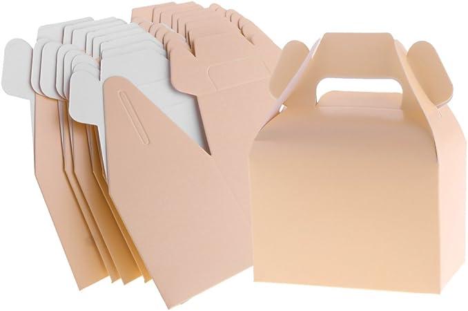 D DOLITY - Juego de 8 Cajas de Cartón para Dulces y Cupcakes, Bolsas de Papel para postres, Regalos de Fiesta, Accesorios, Rosa, as Described: Amazon.es: Hogar