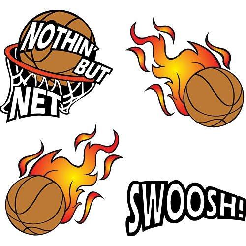 Nothin' But Net Basketball Set Temporary Tattoos