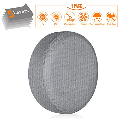 Cover Truck Tire Spare (KAKIT Spare Tire Cover for RV, 5 Layers Durable Waterproof Motorhome Spare Wheel Tire Covers for Trailers Jeep Truck Car Camper Fit up to 29