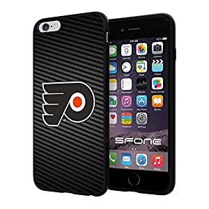 Philadelphia Flyers Carbon Fiber Design #171 iphone 4s) I+ Case Protection Scratch Proof Soft Case Cover Protector