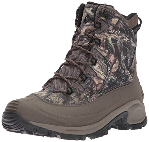 Columbia Men's Bugaboot II Camo Snow Boot, Mossy Oak BU Country, Black, 9.5 D (Columbia Leather Snow Boots)