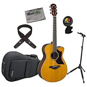 yamaha ac3r vn a series concert size vintage natural acoustic electric guitar w. Black Bedroom Furniture Sets. Home Design Ideas