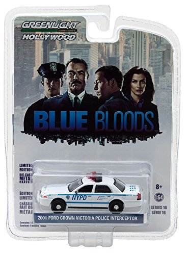 - Greenlight Hollywood Limited Edition Blue Bloods 2001 Ford Crown Victoria Police Interceptor