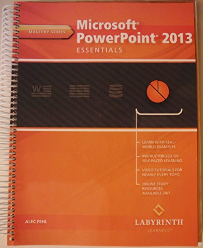 Price comparison product image Microsoft PowerPoint 2013 Essentials (Mastery Series)