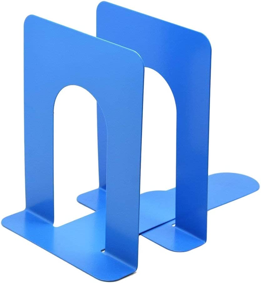 Hybei File Support 2Pcs School Office Dedicated Bookends Art Bookend Metal Bookend Supports Universal Table Book File Storage Shelves