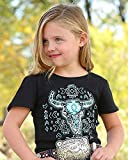 Cruel Girl Girls' Aztec Steer T-Shirt Black X-Large