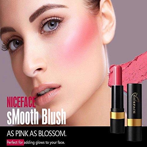 FTXJ Cosmetic Blusher Makeup Smooth Blush Stick Cheek Lip Glaze (Pink) by FTXJ (Image #1)