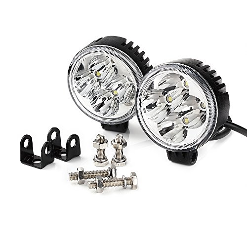 Xprite WL-12RS-2PC 3-Inch 12Watt Round High Power LED Spot Lights (Pack of 2)