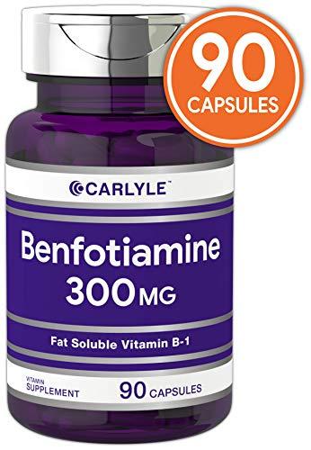 Benfotiamine 300mg 90 Capsules | Vitamin B1 | Promotes Healthy Blood Sugar | Non-GMO, Gluten Free | by Carlyle