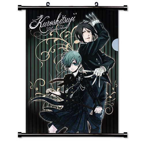Anime Wall Scrolls - 1 X Black Butler Anime Fabric Wall Scroll Poster (16 x 22) Inches