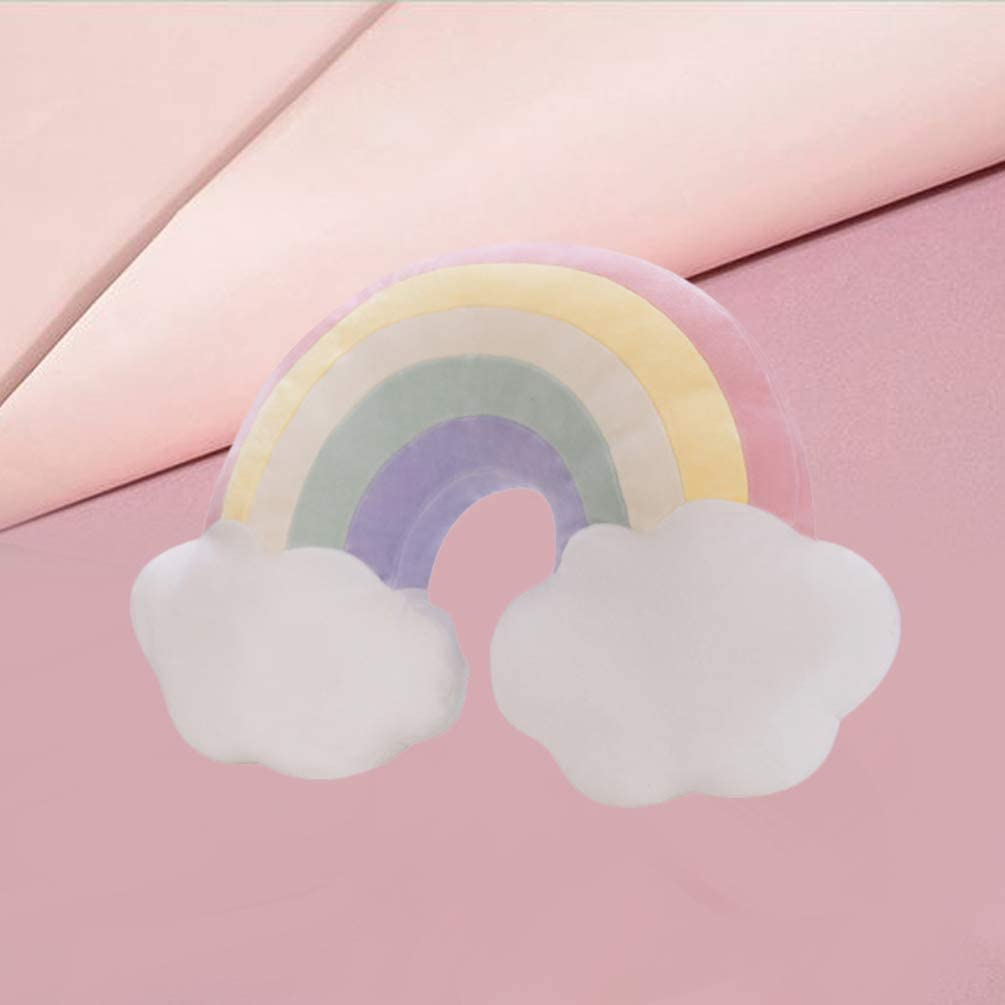 NUOBESTY Nube Arco/íris Felpa Almohada Coj/ín Almohada Decorativa Juguetes Tirar Almohada Ni/ño Beb/é Vivero Dormitorio Decoraci/ón Regalo Rojo