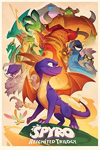 5x61cm 91 Multicolore Pyramid International Poster Spyro Animated Style