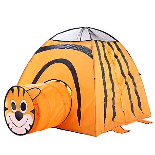 ♛Euone Castle Play Tent ♛Clearance♛, Cartoon Tiger Folding Tent Children Kids Play Tent in/Outdoor Toy House for Boys - Tigers Tent