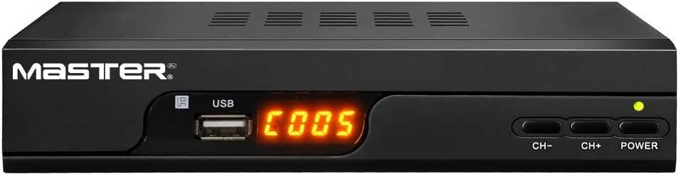 Master- Convertidor / Sintonizador Digital Convierte captación Digital en analógica, graba programas, Juegos incluidos, Salidas RCA y HDMI además con Puertos USB
