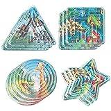 """Fun-Filled Mini Rainforest Friends Maze Puzzle Party Favours, Plastic, 2"""" x 2"""", (Value Pack: 36 Count)"""