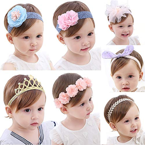 Baby Girl Headbands and Bows Flower Hair Band Infant Toddler Hair Accessories (Hair Band Head)