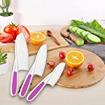 Home Servz Lettuce Knife Set - Serrated Nylon Plastic Knife - Children's Cooking Salad Knives - Kids Safe Use 13 THE HIGHEST QUALITY THAT YOU DESERVE: When comes to food premium quality is a must- that's why we offer you an amazing set constructed by the finest materials.All of our Lettuce Knife materIal are made from 100% Food Grade safe, BPA Free, which odorless. and non-toxic. What is more, all of our products carry a FDA and LFGB certification standards.- Guaranteed to Keep Your Family Safe! THE SET LNCLUDES:11Inch large, Plastic Nylon Lettuce Knife. - 10 Inch medium,Nylon Serrated Knife. - 9 Inch small,Children's Cooking Salad Knives. FUNCTION AND USE : Set of 3,Serrated Edges Safe Lettuce and Salad Knives. - For Precision Cutting.Such as ,Cheese,Bread,vegetable, zucchini, carrots, potatoes, apples,citrus,tomatoes, peaches and sweet potatoes, Be Children's a good helper in kitchen . make Kids to be independent chefs!