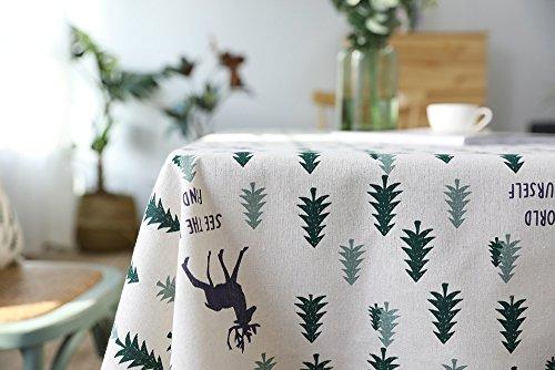 YULAN-Cotton Placecloth mantel verde pequeño árbol. (140 ...