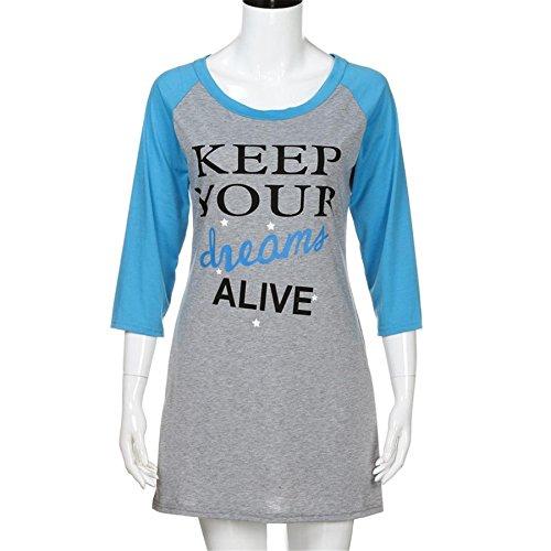 BURFLY ShirtKleid für Frauen Damen Drei Viertel über Knie Minikleid ...