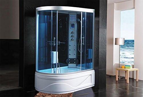 Cabina de ducha hidromasaje Sauna Baño Turco 130 x 85 DX ...