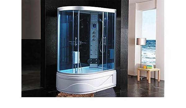 Cabina de ducha hidromasaje Sauna Baño Turco 130 x 85 DX: Amazon.es: Hogar