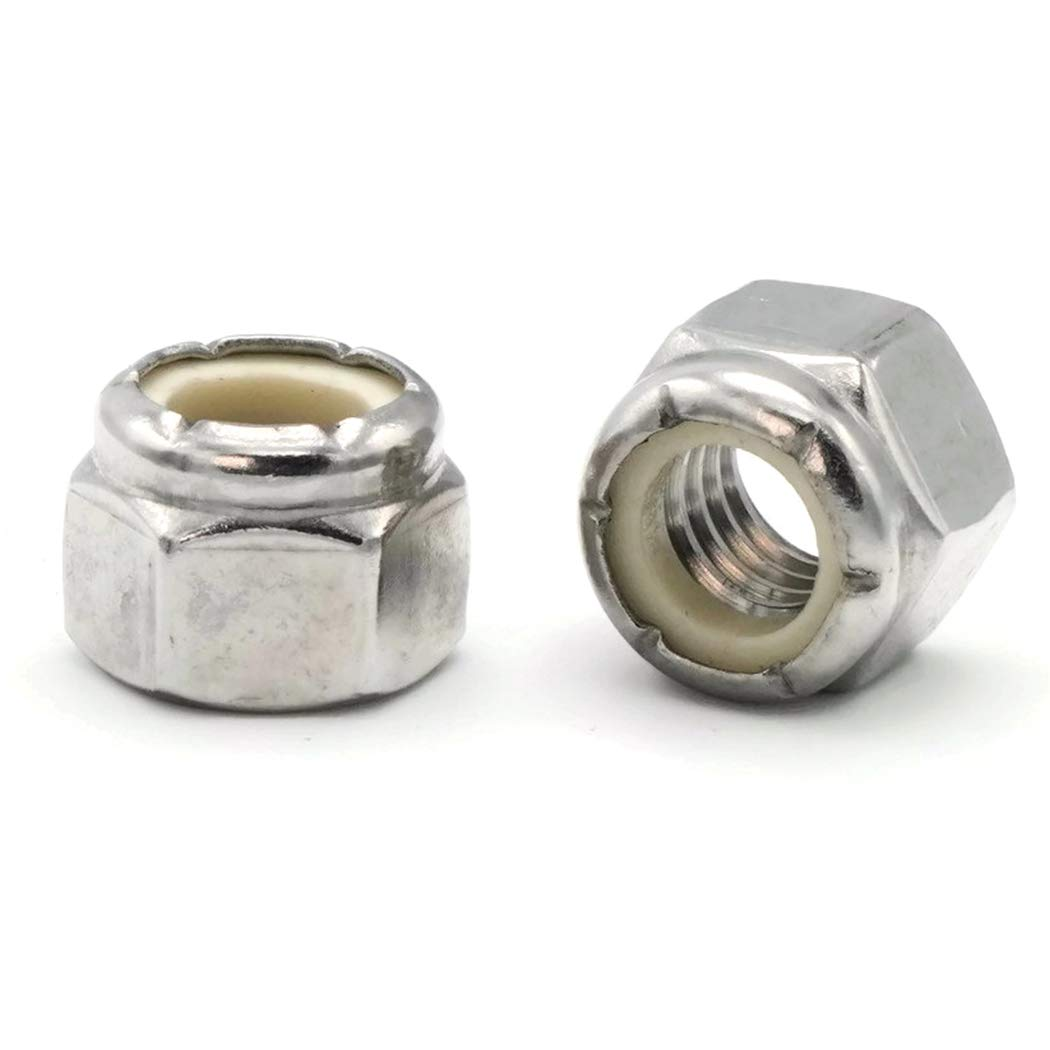 .439 Flats x .225 Height Qty-100 Nylon Lock Nuts 18-8 Stainless Steel 1//4-20