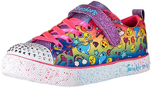 Skechers Kids Girls' Twinkle Breeze 2.0-Stylish SM Sneaker, Multi, 12 Medium US Little - Toes Twinkle