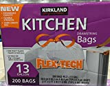 #4: Kirkland Signature Drawstring Kitchen Trash Bags - 13 Gallon - 200 Count