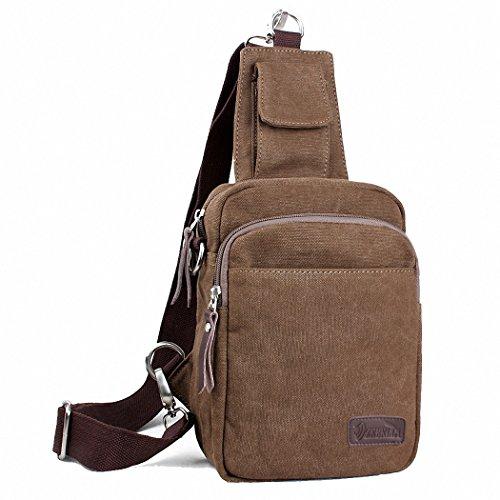 Sling Knapsack (Sling Bag Chest Shoulder Unbalance Gym Fanny Backpack Sack Satchel Outdoor Bike)