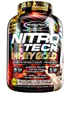 MuscleTech NitroTech Whey Gold, 100% Whey Protein Powder, Whey Isolate and Whey Peptides, Cookies and Cream, 88.48 Ounce For Sale