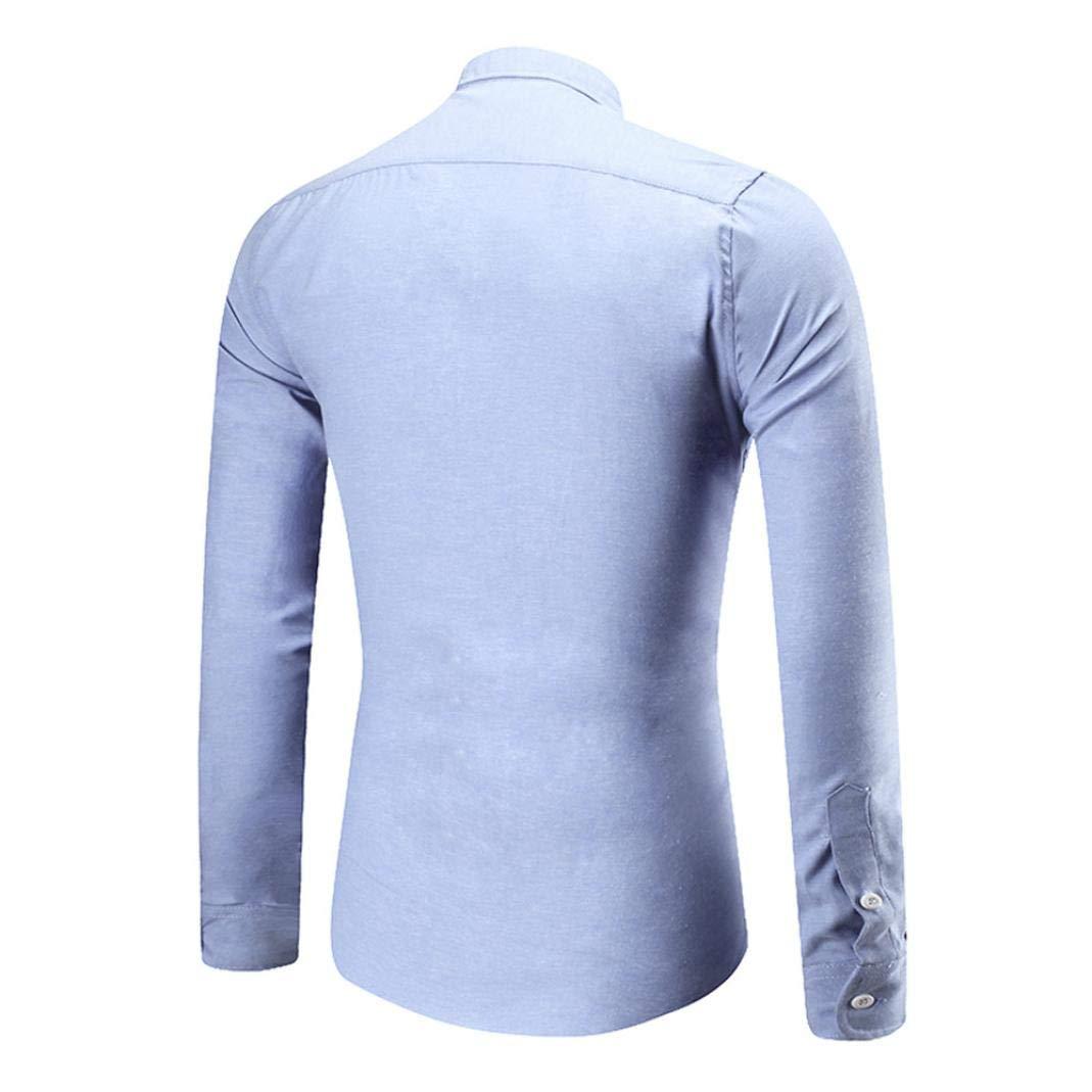 Winwintom -Camisas Hombre Camisas Hombre Manga Larga, Blusa Suelta ...