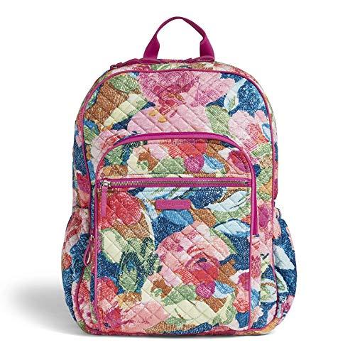 (Vera Bradley Iconic Campus Backpack, Signature Cotton, Superbloom)