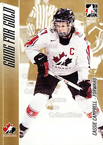 Cassie Campbell Hockey Card 2006 ITG Going For Gold #12 Cassie Campbell