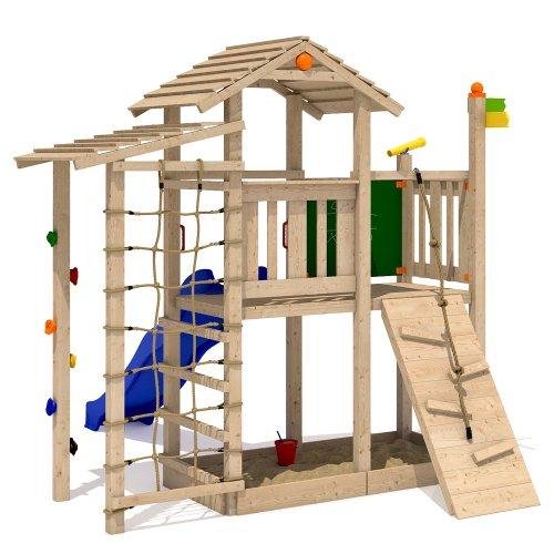 ISIDOR Bazzy Boo Spielturm Kletterturm Rutsche Schaukel Maltafel XL- Kletternetz (ohne Schaukelanbau)