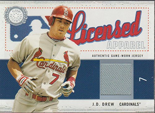 2003 Fleer J.D. Drew Cardinals 406/500 Game Used Jersey Insert Baseball Card #JD-LA