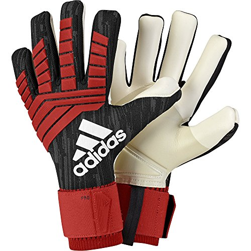(adidas Predator PRO Soccer Goalkeeper Gloves Black/Red Size 10)