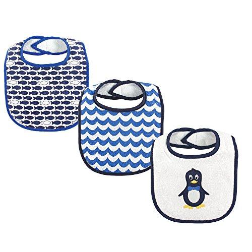 Luvable Friends 3 Pack Baby Drooler Bibs, Penguin
