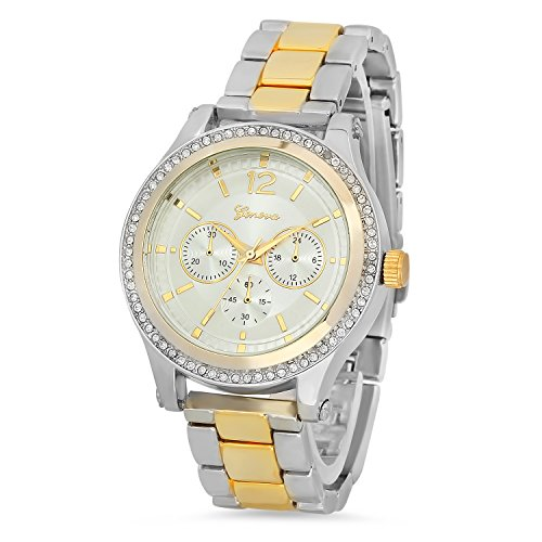 Mens 14k Gold Geneve Watch - 7