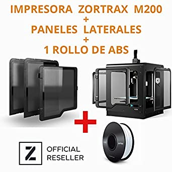 ZORTRAX M200 - IMPRESORA 3D + PANELES PROTECTORES INCLUIDOS ...