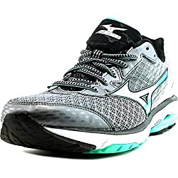 Women's Mizuno Wave Rider 19, Greygreen, 12 B